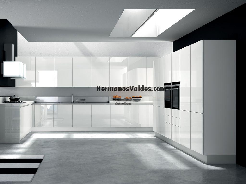 Ref 2265 - Cocina blanca mate o brillo ...