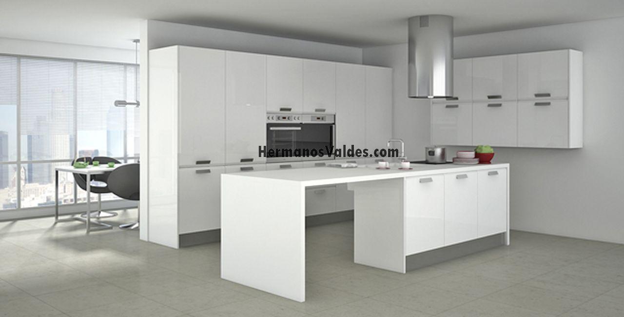 Diseador De Cocinas Online. Simple Line N La Cocina Sin Tiradores ...